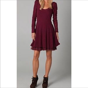Free People Fit and Floral Lace A Line Dress